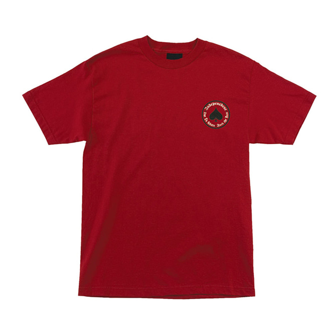 INDEPENDENT X THRASHER OATH TEE - CARDINAL