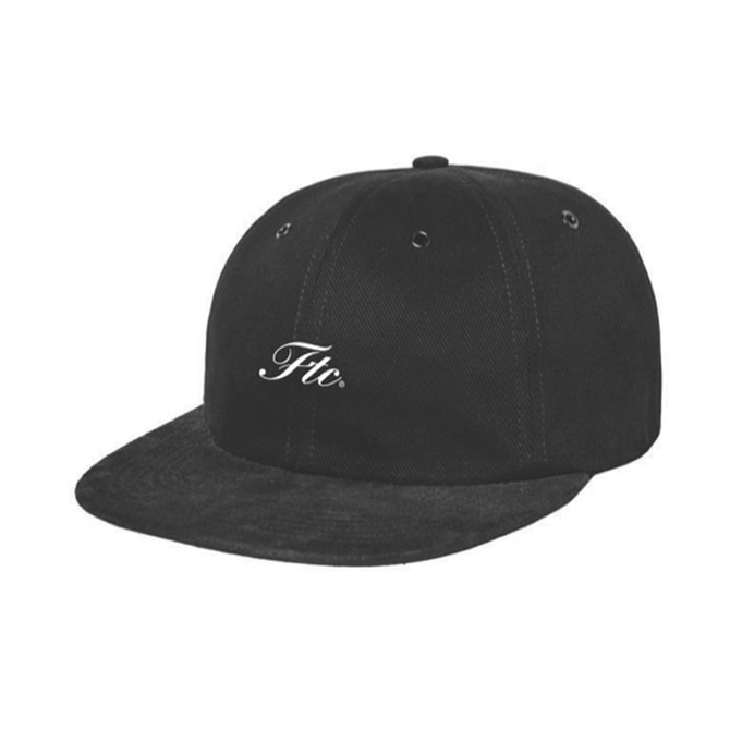 FTC 6-PANEL FIELD HAT - BLACK/BLACK SUEDE