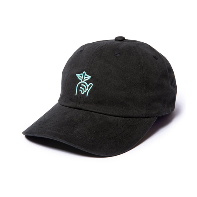 QUIET LIFE SHHH DAD HAT - BLACK
