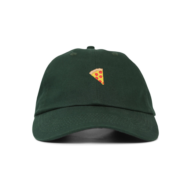 PIZZA EMOJI HAT - DARK GREEN