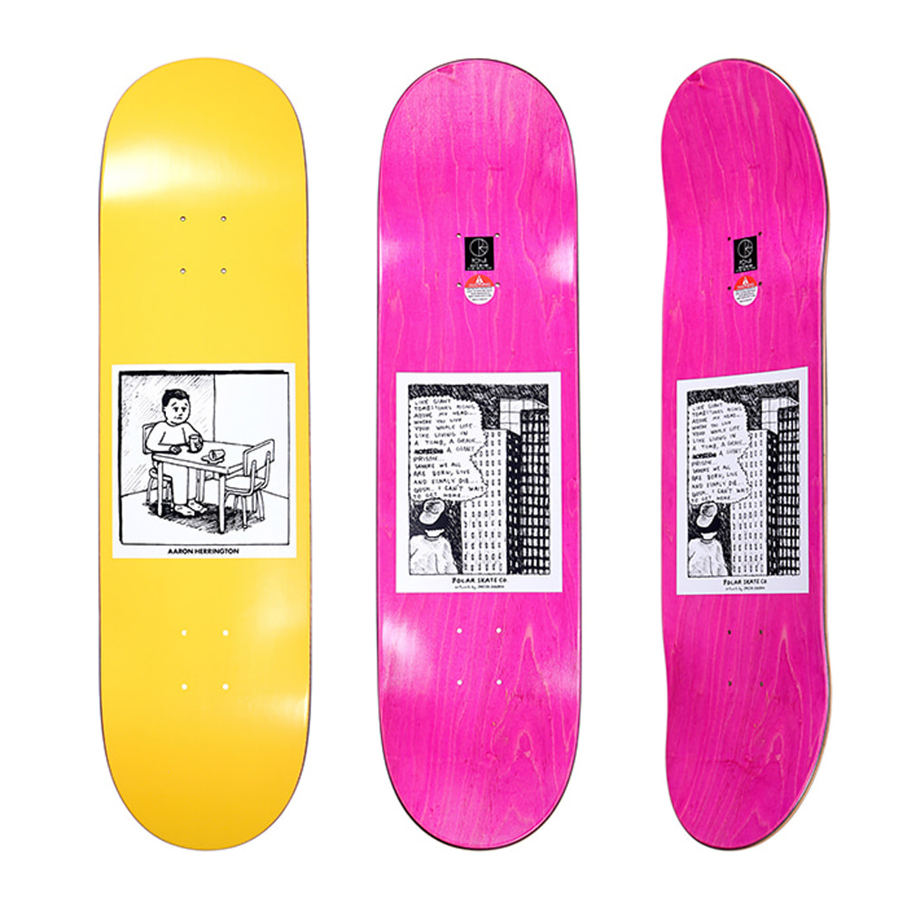 POLAR AARON HERRINGTON - SPILLED MILK YELLOW DECK 7.875