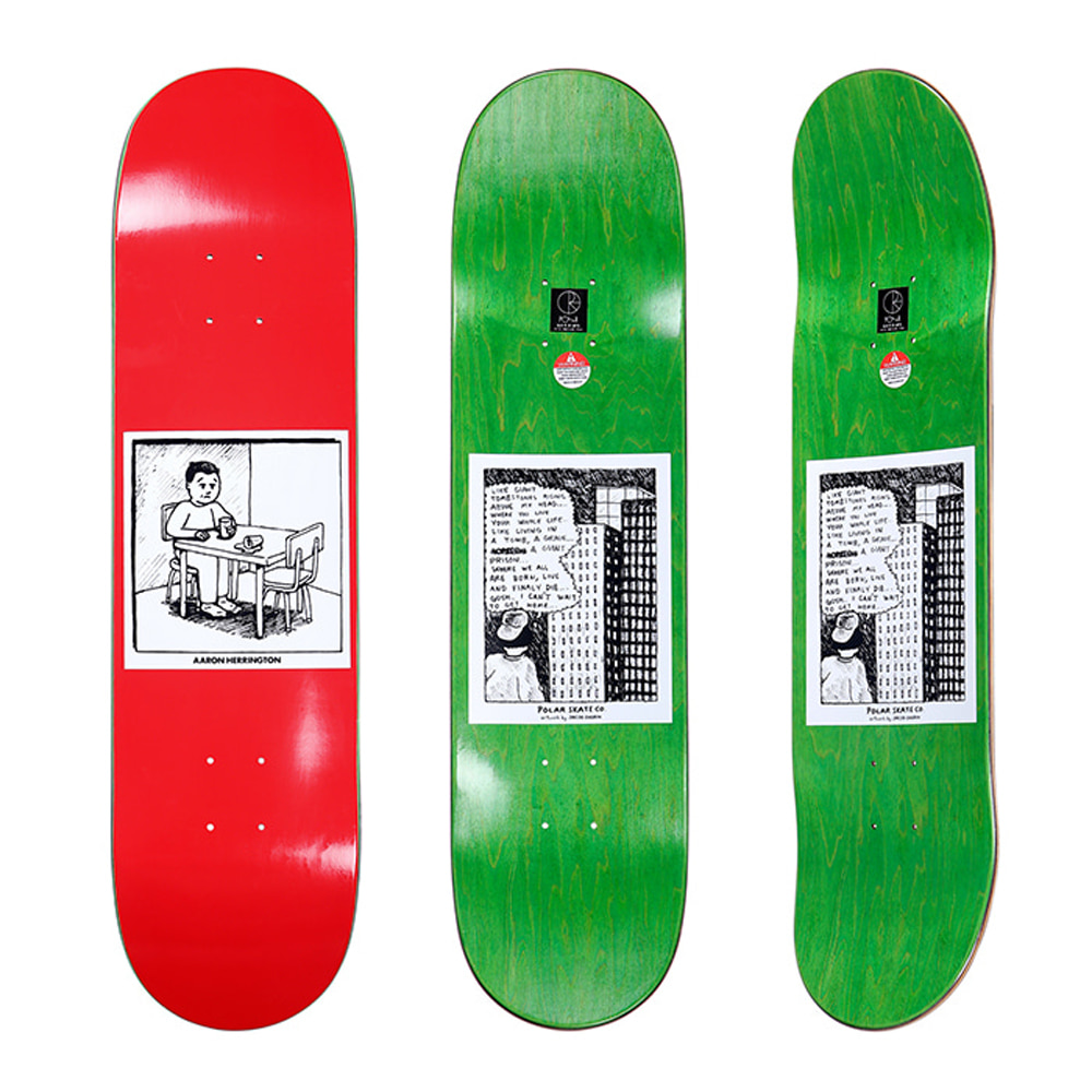 POLAR AARON HERRINGTON - SPILLED MILK RED DECK 8.0
