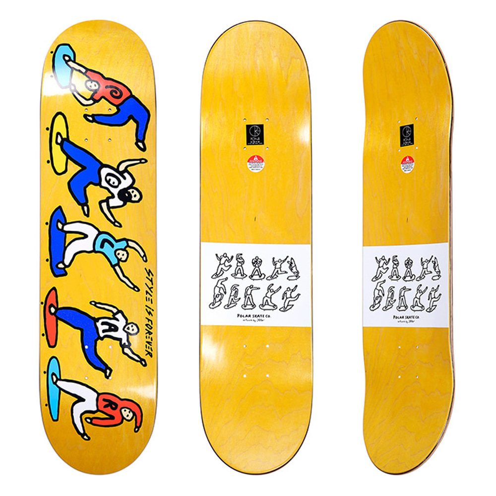POLAR TEAM - STYLE IS FOREVER YELLOW STAIN DECK 8.125