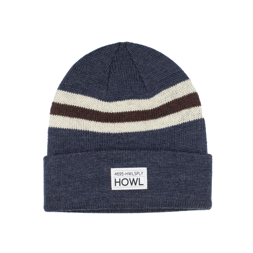 HOWL SUPPLY  TRILOGY BEANIE BLUE