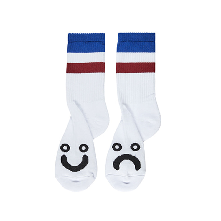 POLAR HAPPY SAD SOCKS (STRIPES) - BLUE [SPRING 2020]