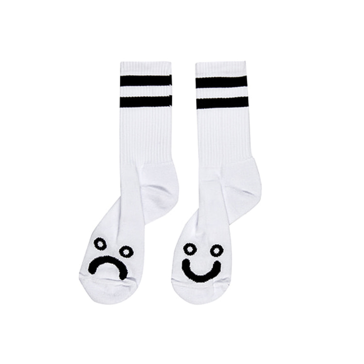 POLAR HAPPY SAD SOCKS - WHITE [SPRING 2020]