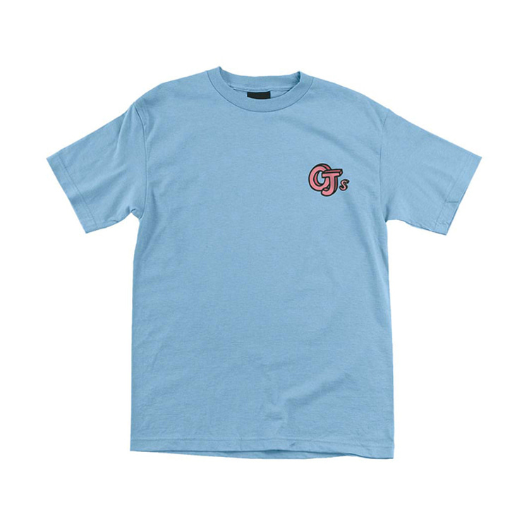 OJ WHEELS SKETCH BOOK LOGO TEE - POWDER BLUE