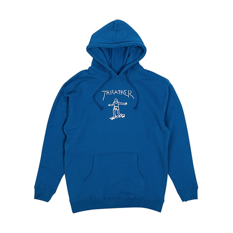THRASHER GONZ HOOD - ROYAL BLUE