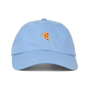 PIZZA EMOJI PIGMENT DYED HAT - BLUE