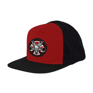 INDEPENDENT X THRASHER PENTAGRAM CROSS ADJ SNAPBACK - CARDINAL/BLACK